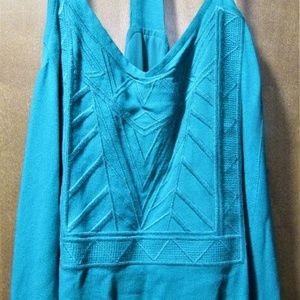 Full Length Turquoise Slip on Dress